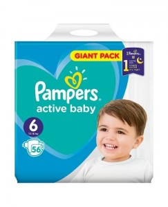Pampers  Active Baby -Dry 6, 56 szt